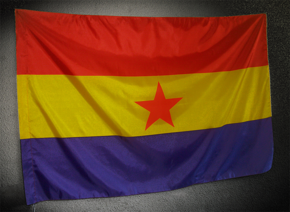 Bandera republicana estrella roja tama o grande la - Tamanos de baneras ...